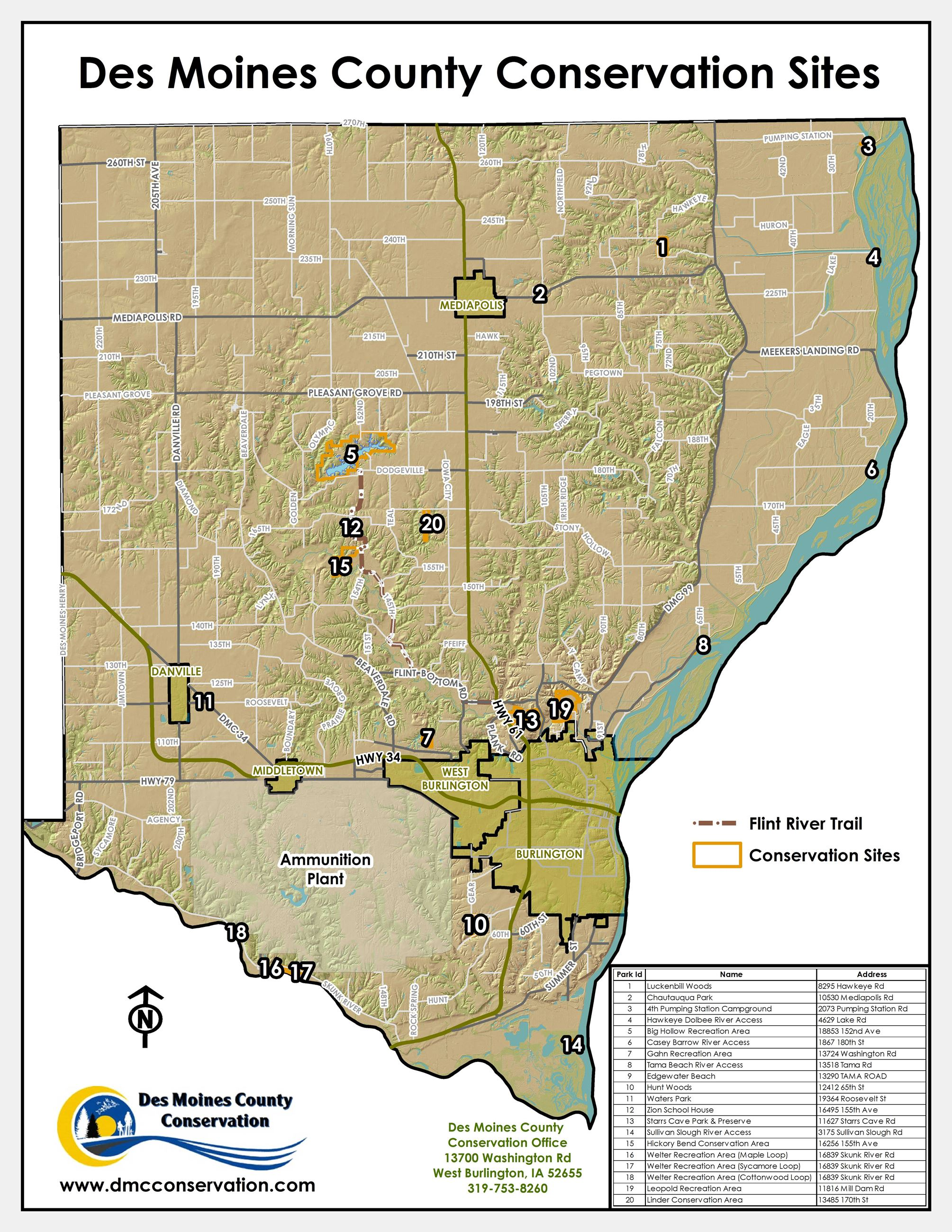 County Map with all Parks