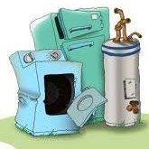appliance recycling cartoon image