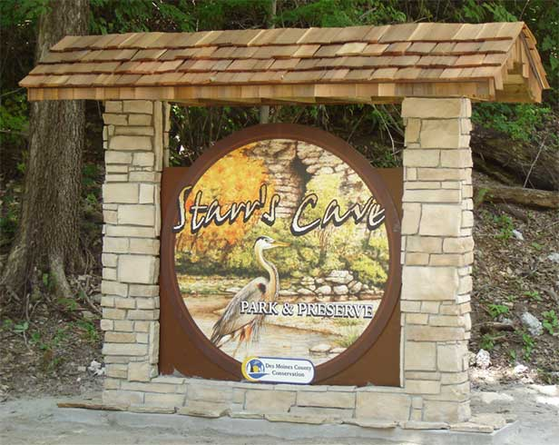 Starr's Cave Sign